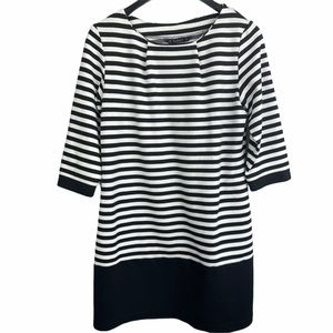 V Vintage Tunic Top Dunnes Striped Size Large